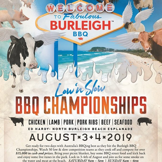 Head to Burleigh Heads in August for Burleigh BBQ Championships 2019